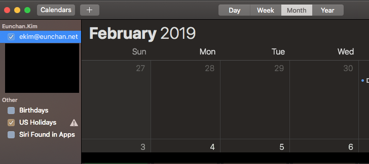 Wrong calendar name in Apple Calendar App