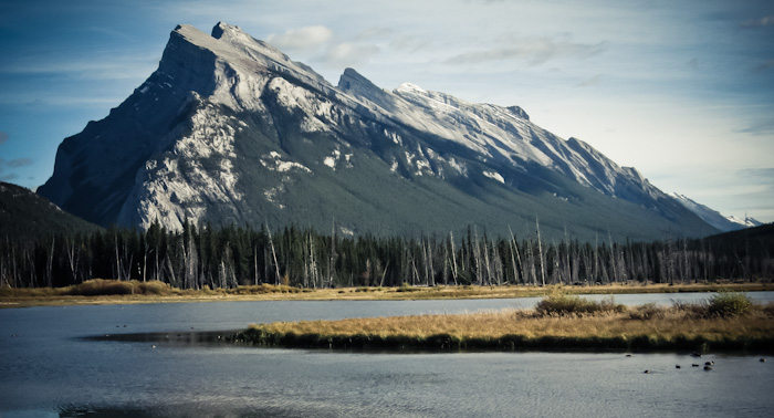 Mt.Rundle from Vermilion Lakes